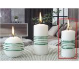 Lima Exclusive sviečka zelená valec 50 x 100 mm 1 kus