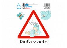 Arch Autosamolepka Dieťa v aute - batoľa chlapček SK 15 x 17,5 cm