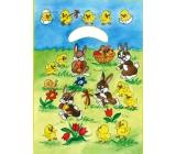 Anjel Veľkonočné igelitová taška Zajačikovia na lúke 32 x 20 x 4 cm