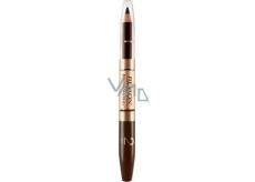 Revlon Brow Fantasy tužka a gel na obočí 2v1 106 Dark Brown 0,31 g + 1,18 ml