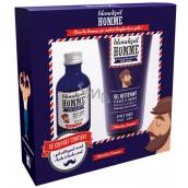 Blondépil Homme Olej na fúzy pre mužov 50 ml + čistiaci gél na tvár a fúzy 150 ml, kozmetická sada