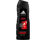 Adidas Team Force 3v1 sprchový gél na telo, vlasy a tvár pre mužov 400 ml