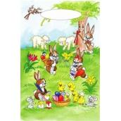 Anjel Veľkonočné igelitová taška Zajačikovia pod stromčekom 32 x 20 x 4 cm