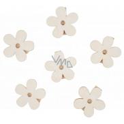Drevené kytky s kolíčkom 4 cm 6 kusov