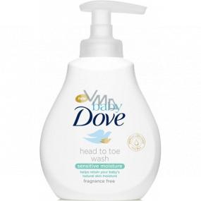 Dove Baby Sensitive Moisture umývací gél na telo a vlasy pre deti 200 ml