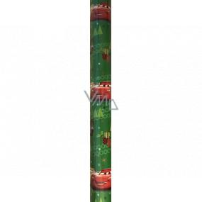 Ditipo Darčekový baliaci papier 70 x 200 cm Vianočný Disney Autá zelený