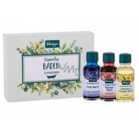 Kneipp Lavender olej do kúpeľa 20 ml + Arnica olej do kúpeľa 20 ml + Relaxation olej do kúpeľa 20 ml, súprava bylinkových olejov do kúpeľa