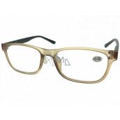 Berkeley Čítacie dioptrické okuliare +2,5 plast svetlo hnedé, čierne bočnice 1 kus MC2184