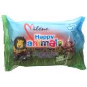 Miléne Happy Animals vlhčené ubrousky pro děti 60 kusů