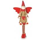 Anděl v pruhovaných punčocháčích se srdíčkem 37 cm