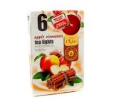 Čajové sviečky Tea Lights 6ks Apple Cinnamon 7579