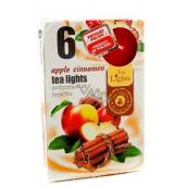 Tea Lights Apple Cinnamon s vôňou jablka a škorice vonné čajové sviečky 6 kusov