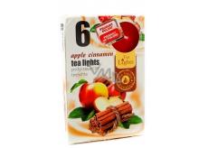 Tea Lights Apple Cinnamon s vůní jablka a skořice vonné čajové svíčky 6 kusů