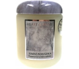 Heart & Home Zimná rozprávka Sójová vonná sviečka strednej horí až 30 hodín 115 g