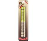 Nekupto Hobby drevené ceruzky Vášnivý športovec 2 kusy