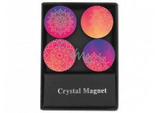 Albi Kryštálové magnetky kruhy Mandala 4 kusy