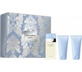 Dolce & Gabbana Light Blue toaletná voda pre ženy 50 ml + sprchový gél 50 ml + telový krém 50 ml, darčeková sada