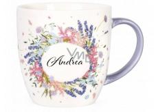 Albi Kvitnúce hrnček s menom Andrea 380 ml
