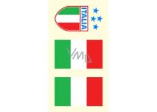 Arch Tetovací obtisky na obličej i tělo Itálie vlajka 3 motiv