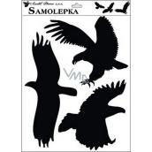Samolepka siluety vtáky 42 x 30 cm č.1