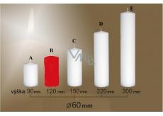 Lima Sviečka hladká červená valec 60 x 120 mm 1 kus