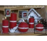Lima Aura Vianočné fantázie vonná sviečka červená guľa 80 mm 1 kus