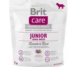 Brit Care Junior Jehněčí + rýže pro štěňata a mladé psy od 3 měsíců do 2,5 let velkých plemen nad 25 kg 1 kg