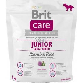 Brit Care Junior Jahňacie + ryža pre šteňatá a mladých psov od 3 mesiacov do 2,5 rokov veľkých plemien nad 25 kg 1 kg