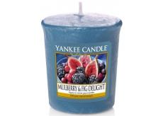 Yankee Candle Mulberry & Fig delight - Lahodné moruše a fíky vonná svíčka votivní 49 g