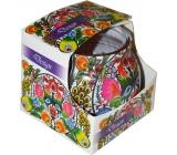 Admit Violet Design dekoratívne aromatická sviečka v skle 80 g