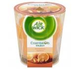 Air Wick Essential Oils Infusion Orange & Festive Spice vonná svíčka 105 g