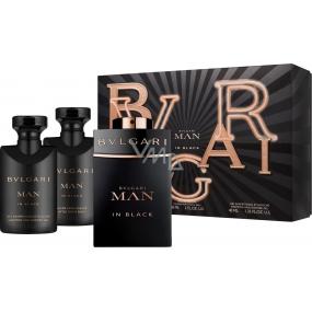 Bvlgari Man In Black toaletná voda 60 ml + balzam po holení 40 ml + šampón a sprchový gél 40 ml, darčeková sada