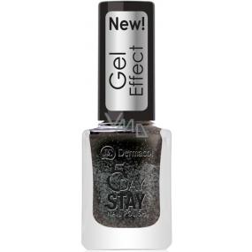 Dermacol 5 Day Stay Gél Effect dlhotrvajúci lak na nechty s gélovým efektom 32 Chat Noir 12 ml