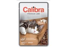 Calibra Premium Jahňacie a hydiny v omáčke kompletné krmivo pre dospelé mačky vrecko 100 g