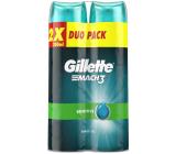 Gillette Mach 3 Sensitive gél na holenie pre citlivú pokožku 2 x 200 ml, duopack