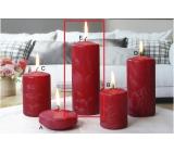 Lima Ľadová sviečka červená valec 60 x 150 mm 1 kus