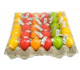 Vajíčko veľkonočné sviečka 5,5 x 4,5 cm na plate 1 kus náhodný výber