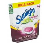 Sunlight AiO Expert Extra Lemon tablety do umývačky 80 tabliet