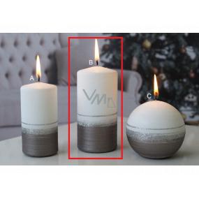 Lima Aróma línia sviečka svetlo hnedá valec 60 x 120 mm 1 kus