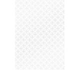 Ditipo Darčekový baliaci papier 70 x 100 cm Biely strieborné ornamenty 2 archy