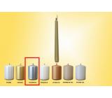 Lima Sviečka hladká metal strieborná kužeľ 22 x 250 mm 1 kus
