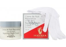 Mavala Repairing Night Cream regenerační noční krém na ruce 75 ml + bavlněné rukavice 1 pár