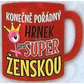 Nekupto Dárky s humorem Hrnek maxi Konečně pořádný hrnek pro super ženskou 0,8 l