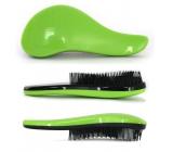 Dtangler Detangling Brush Kartáč pro snadné rozčesání vlasů 18,5 cm zelený