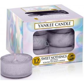 Yankee Candle Sweet Nothings - Sladké nic vonná čajová svíčka 12 x 9,8 g