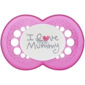 Mam Love & Affection silikónové ortodontickej cumlík 6+ mesiacov rôzne vzory a farby 1 kus