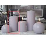 Lima Ice pastel sviečka svetlo fialová valec 80 x 150 mm 1 kus