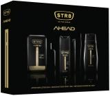 Str8 Ahead voda pre holení pre mužov 50 ml + dezodorant sprej 150 ml + sprchový gél 250 ml, kozmetická sada