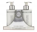 Vivian Gray Crystal White krémové mydlo na ruky 250 ml + mlieko na ruky 250 ml, kozmetická sada