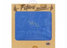Albi Fitness uterák Brácha to dáš modrý 90 x 50 cm
